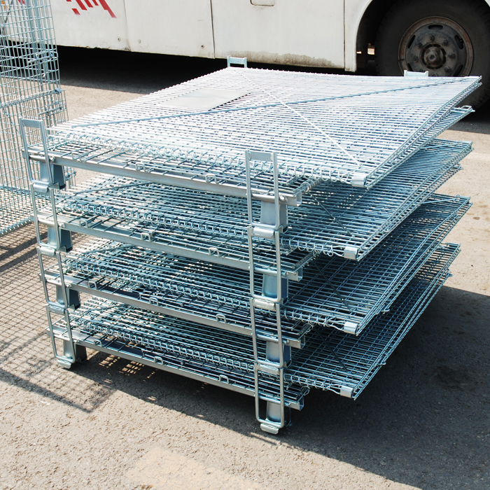 wire mesh container with caster