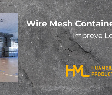 wire mesh container with casters